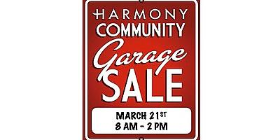 Harmony Community Garage Sale Returns March 21